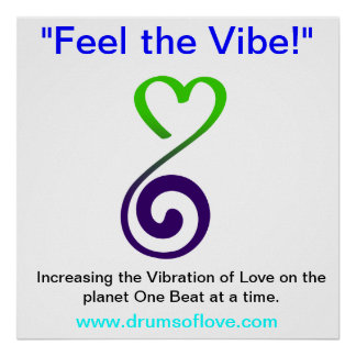 Vibration of LOVE Poster