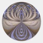 Vibrations Mandala Artwork - Fractal Sticker