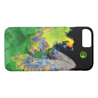 VIBRATIONS OF MATTER Green Fractal Woman iPhone 7 Case
