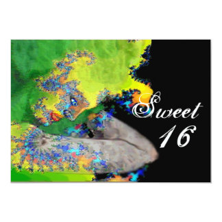 VIBRATIONS OF MATTER ,Sweet 16 Birthday Party 5x7 Paper Invitation Card