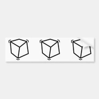 Vibrator cube bumper sticker