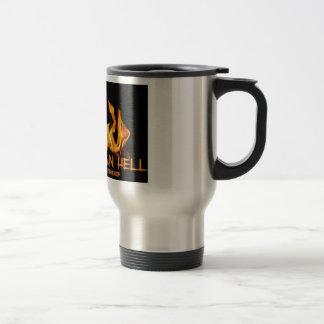 Vibre que las llamas del infierno taza de café
