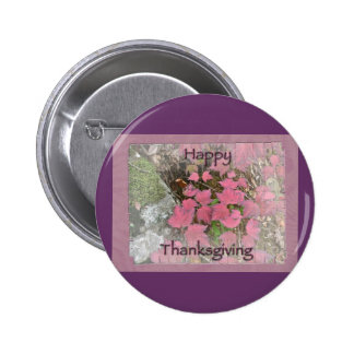 Viburnum Fall Foliage Happy Thanksgiving Items 2 Inch Round Button