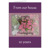 Viburnum Fall Foliage Happy Thanksgiving Items Card