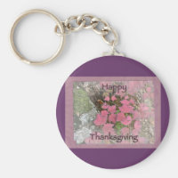 Viburnum Fall Foliage Happy Thanksgiving Items Keychain