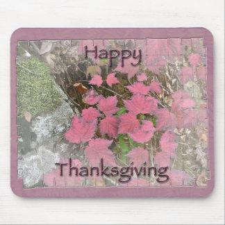 Viburnum Fall Foliage Happy Thanksgiving Items Mouse Pad