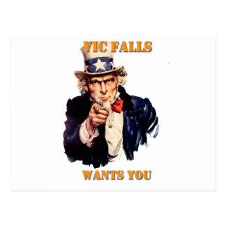 Vic Falls Wants You Postcard