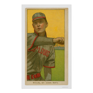 Vic Willis Baseball Card 1911 Poster
