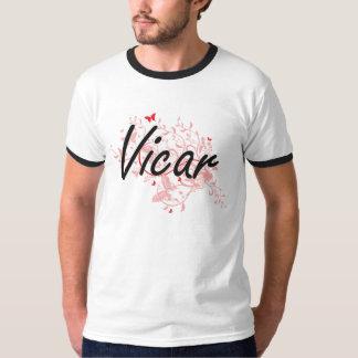 Vicar Artistic Job Design with Butterflies T Shirt