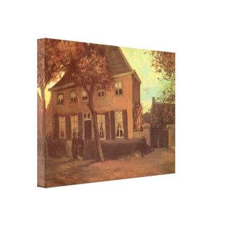 Vicaría en Nuenen de Vincent van Gogh Lona Envuelta Para Galerías