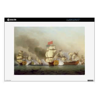 """Vice Admiral Sir George Anson's (1697-1762) Victor 15"""" Laptop Skin"""