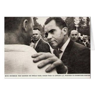 Vice President Nixon in Soviet Union Greeting Card