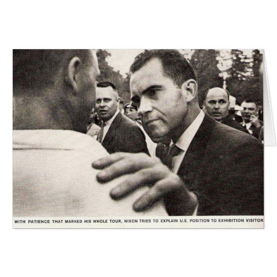 Vice President Nixon in Soviet Union Card