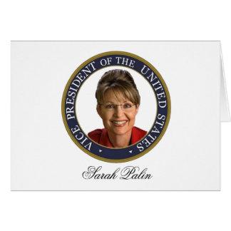 Vice President Sarah Palin Card