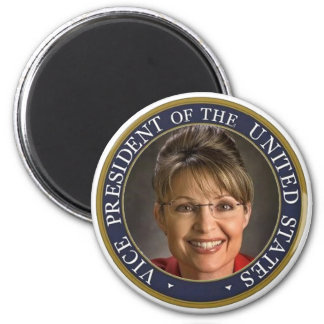 Vice President Sarah Palin 2 Inch Round Magnet