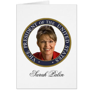 Vice President Sarah Palin Stationery Note Card