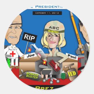 Vice Presidential Debate Classic Round Sticker