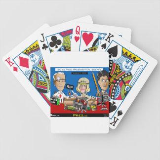 Vice Presidential Debate Bicycle Poker Cards
