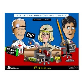 Vice Presidential Debate Postcard