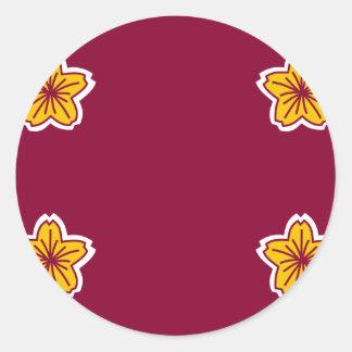 Viceministro de la defensa bandera de Japón, Japón Etiquetas Redondas