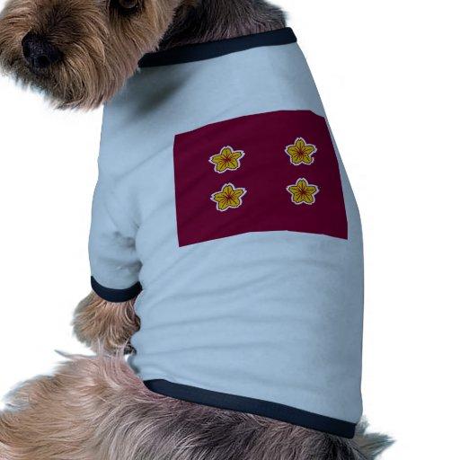 Viceministro de la defensa de Japón, Japón Camiseta Con Mangas Para Perro