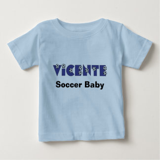 Vicente in Soccer Blue Baby T-Shirt