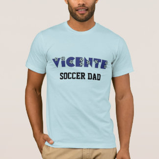 Vicente in Soccer Blue T-Shirt