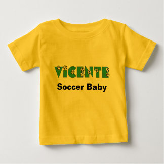 Vicente in Soccer Green Baby T-Shirt