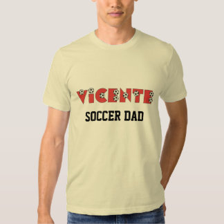 Vicente in Soccer Red T-shirt