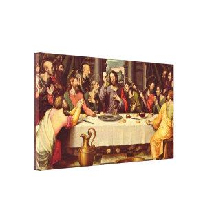 Vicente Juan Masip - los señores Supper Lienzo Envuelto Para Galerías