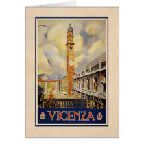 Vicenza, Italy - Vintage Travel poster Card