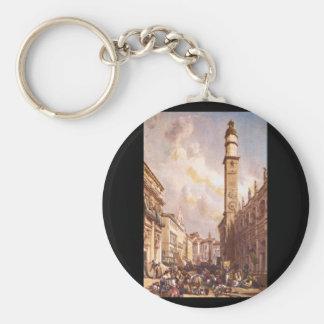Vicenza', James Duffield Harding_Engravings Llavero Redondo Tipo Pin