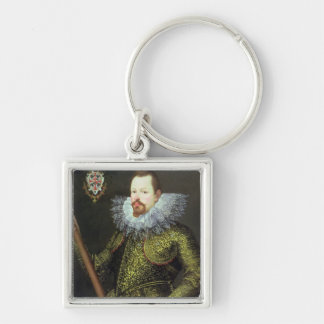 Vicenzo Gonzaga, Duke of Mantua, 1600 Silver-Colored Square Keychain