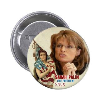 Vicepresidente Button de Palin Pin Redondo De 2 Pulgadas
