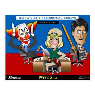 Vicepresidente Debate octubre de 2012 Tarjetas Postales