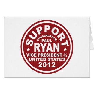 Vicepresidente Seal de Paul Ryan de la ayuda Tarjeta De Felicitación