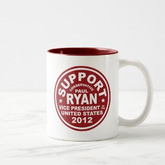 Vicepresidente Seal de Paul Ryan de la ayuda Taza De Café De Dos Colores