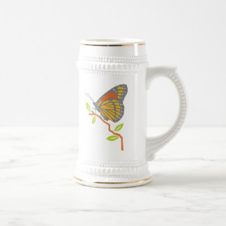 Viceroy Butterfly 18 Oz Beer Stein