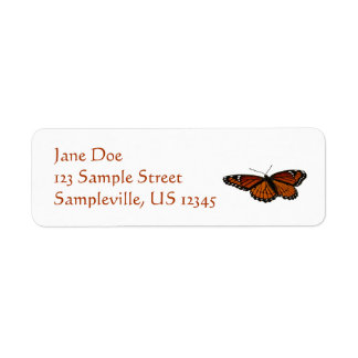 Viceroy Butterfly Beautiful Nature Photography Label