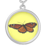 Viceroy Butterfly Beautiful Nature Photography Silver Plated Necklace