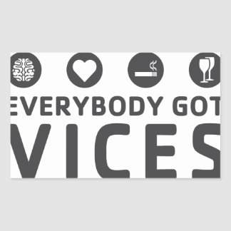 Vices Rectangular Sticker