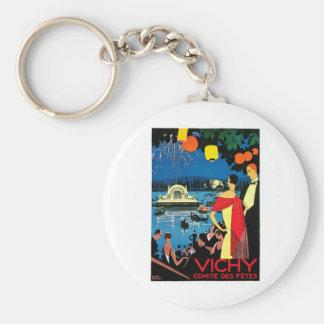 Vichy Comite Des Fetes France Travel Art Key Chains