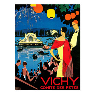 Vichy Comite Des Fetes ~ France Travel Art Postcard