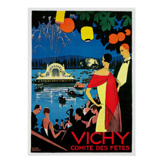 Vichy Comite Des Fetes ~ France Travel Art Poster