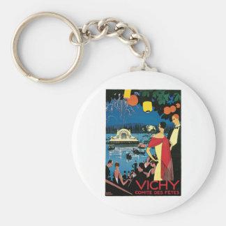 Vichy France Comite Des Fetes Art 1926 Nightlight Keychain