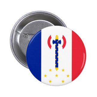 Vichy, France flag Pinback Button