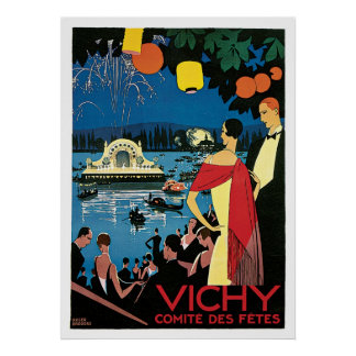 Vichy France Vintage Travel Poster