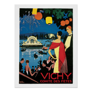 Vichy Vintage French Travel Poster