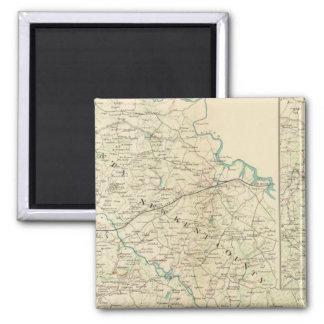 Vicinity Richmond, Va, Peninsula 2 Inch Square Magnet