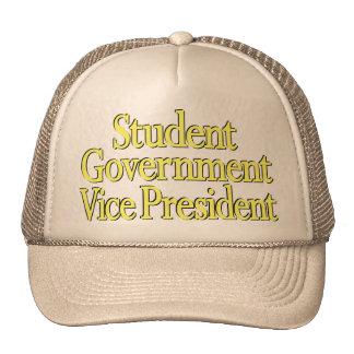 """""""Vicio Pres del estudiante."""" Logotipo amarillo en Gorras"""